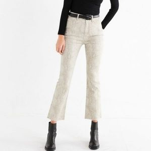 BDG Kick Flare High-Rise Cropped Jean - Snake